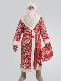 Блестящий костюм Деда Мороза в Челябинске
