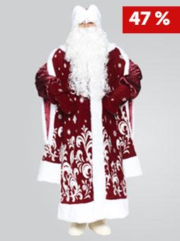 Костюм Деда Мороза Боярский Бордо в Челябинске