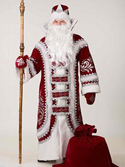 Костюм Деда Мороза Купеческий бордовый