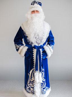 Костюм Деда Мороза Боярский синий Челябинск